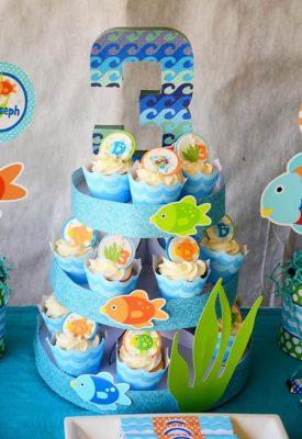 fundo do mar cupcake