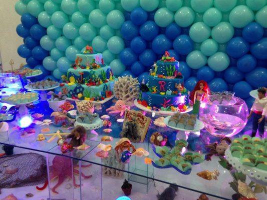 decoração fundo do mar